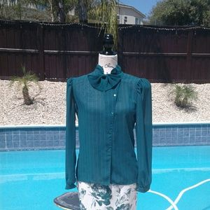 New listing vintage pussy bow blouse top